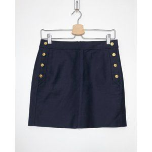 J. CREW Postage Stamp Sailor Mini Skirt NEW size 0